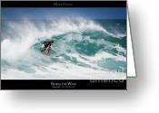 Surf Lifestyle Greeting Cards - Riding the Wave - Maui Hawaii Posters Series Greeting Card by Denis Dore
