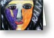 Emotion Pastels Greeting Cards - Right Back Were I Started Greeting Card by Ana Julia Fishman