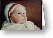 Ruth Gee Greeting Cards - Rigmores Baby Greeting Card by Ruth Gee