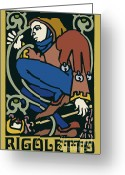 Tragedy Greeting Cards - Rigoletto Greeting Card by Joe Barsin