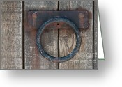Earth Tone Greeting Cards - Ring Knock Greeting Card by Dan Holm