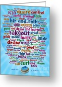 Hit Digital Art Greeting Cards - Ring Lingo Greeting Card by Chris Rhynas