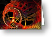 Awe Inspiring Greeting Cards - Ring of Fire Greeting Card by Andee Photography