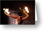 Naked Women Greeting Cards - Ring of Fire Greeting Card by Steven  Digman