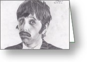 Ringo Starr Greeting Cards - Ringo Starr Greeting Card by Ethan Morehead