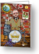 Paul Mccartney Greeting Cards - Ringo Starr Greeting Card by John Goldacker
