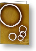 Poster Prints Greeting Cards - Rings On Gold Greeting Card by Marsha Heiken