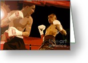 Athletic Digital Art Greeting Cards - Ringside Greeting Card by David Lee Thompson