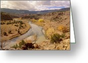 Chama River Greeting Cards - Rio Chama In Autumn New Mexico Greeting Card by Tim Fitzharris