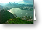 Outdoors Jewelry Greeting Cards - RIO de JANIERO. BREATHTAKING  Greeting Card by Michael Clarke JP