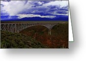 Rio Grande Greeting Cards - Rio Grande Gorge Bridge Greeting Card by Neil McCarver