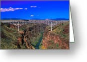 Rio Grande Greeting Cards - Rio Grande Gorge Bridge Taos County NM Greeting Card by Troy Montemayor
