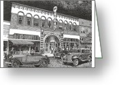 Landmarks Drawings Greeting Cards - Rio Grande Theater Greeting Card by Jack Pumphrey