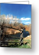 Taos Greeting Cards - Rio pueblo Greeting Card by Kurt Van Wagner