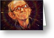 Show Digital Art Greeting Cards - R.I.P Richard Dunn Greeting Card by Fay Helfer-Hale