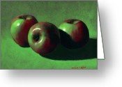 Food Greeting Cards - Ripe Apples Greeting Card by Frank Wilson