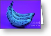 Food And Beverage Greeting Cards - Ripe Bananas In Uv Light 22 Greeting Card by Ted Kinsman
