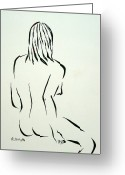 Figure Drawing Greeting Cards - Ripose 1 Greeting Card by Pamela Allegretto