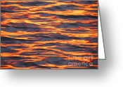 Light And Water Greeting Cards - Ripple Affect Greeting Card by Karen Wiles