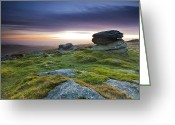 Great Point Greeting Cards - Rippon Tor II Greeting Card by Sebastian Wasek