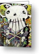 Cross Bones Greeting Cards - Rise Above Greeting Card by Robert Wolverton Jr