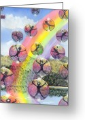 Bubble Greeting Cards - Rising above it all Greeting Card by Catherine G McElroy