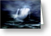 Reflections In Water Greeting Cards - Rising Greeting Card by Gun Legler