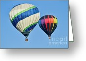 Balloons Greeting Cards - Rising High Greeting Card by Arthur Bohlmann