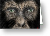 Planet Of The Apes Greeting Cards - Rising Son Greeting Card by Dan Marquart