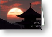 3d Digital Art Greeting Cards - Rising Sun Greeting Card by Richard Rizzo