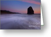 Dusk Greeting Cards - Rising Tide Greeting Card by Mike  Dawson