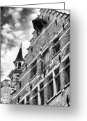Medieval Architecture Greeting Cards - Rising Up in Bruges Greeting Card by John Rizzuto