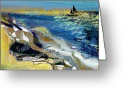 Surge Greeting Cards - Rising wind Greeting Card by Anne Weirich
