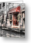 Venice Waterway Greeting Cards - Ristorante on the Canals Greeting Card by Greg Sharpe