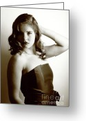 Hayworth Greeting Cards - Rita Hayworth as portrayed by Diana 3 Greeting Card by EleGlance Photography