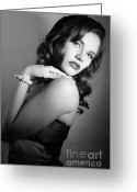 Hayworth Greeting Cards - Rita Hayworth as portrayed by Diana 4 Greeting Card by EleGlance Photography
