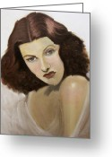 Hayworth Greeting Cards - Rita Hayworth Greeting Card by John Moruzzi