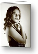 Hayworth Greeting Cards - Rita Hayworth portrayed by Diana 5 Greeting Card by EleGlance Photography
