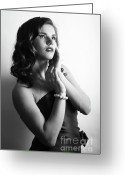 Hayworth Greeting Cards - Rita Hayworth portrayed by Diana Greeting Card by EleGlance Photography