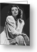 Hayworth Greeting Cards - Rita Hayworth Greeting Card by Reproduction