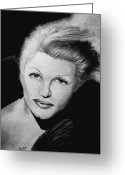 Hayworth Greeting Cards - Rita Hayworth Greeting Card by Scarlett Royal