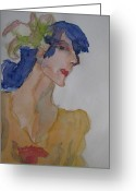 Clothed Figure Greeting Cards - Ritas Recital Greeting Card by Beverley Harper Tinsley