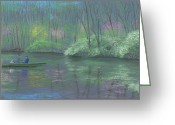 Lakes Pastels Greeting Cards - Rite of Spring Greeting Card by Garry McMichael