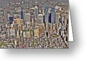 Liberty Place Greeting Cards - Rittenhouse Square Area Philadelphia Greeting Card by Duncan Pearson