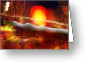 Abstract Greeting Cards - Ritual de lo Habitual Greeting Card by Skip Hunt