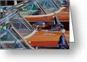 Club Greeting Cards - Riva Aquarama Runabouts Greeting Card by Steven Lapkin