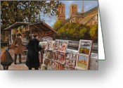 Ile De France Greeting Cards - Rive gouche Greeting Card by Guido Borelli