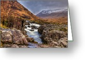 Gabor Pozsgai Greeting Cards - River Etive Greeting Card by Gabor Pozsgai