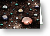 Lustrous Greeting Cards - River Gems Greeting Card by Anastasiya Malakhova