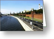 Door Sculpture Greeting Cards - River Moscow Greeting Card by Svetlana Sewell